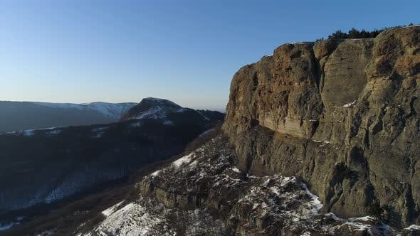 Thumbnail for Aerial view of mountains on a sunny autumn day