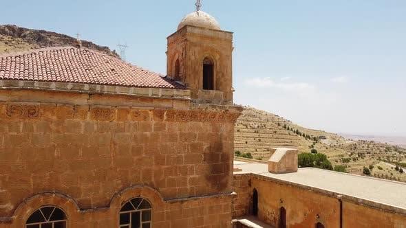 Aerial View of Mor Hananyo Monastery