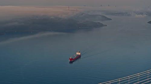 Seascape of Bosporus in Istanbul
