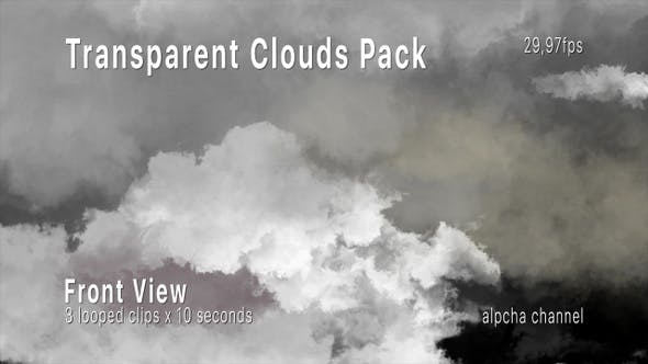 Thumbnail for Transparent Clouds Pack In Front View