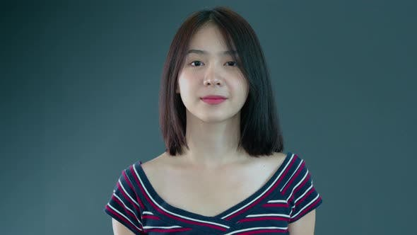 Thumbnail for Portrait of a Young Asian Teenager Woman