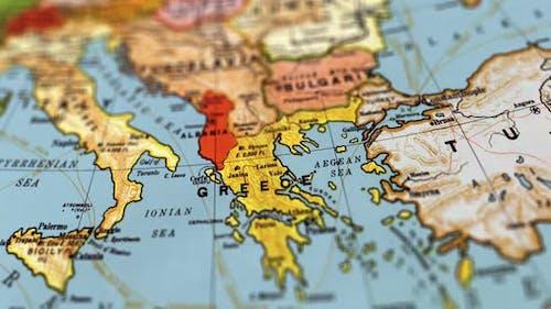 Griechenland Weltkarte