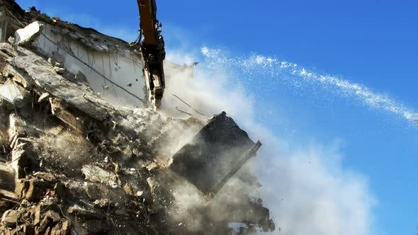 Thumbnail for Demolution Destruction An Old House Building 20