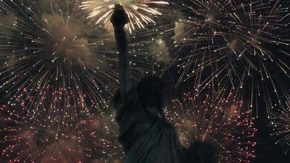 Thumbnail for Statue Of Liberty And Firework Celebration