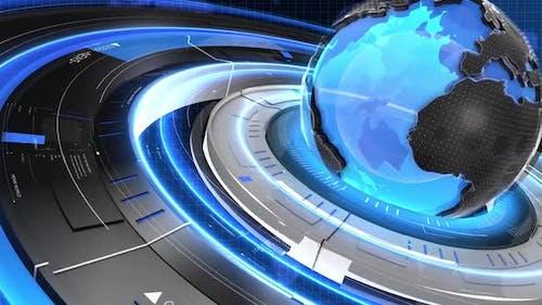 Digital World Map News Intro Background 20