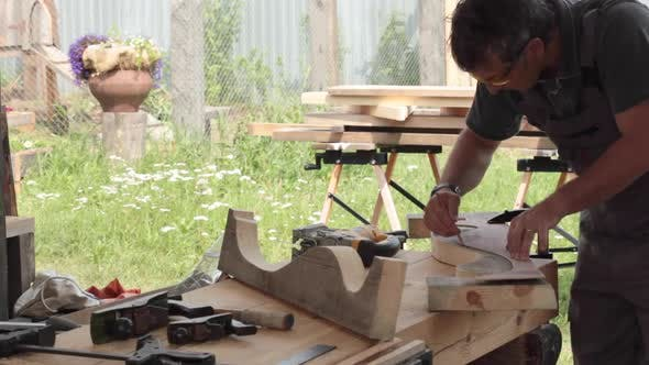 Thumbnail for Woodworking in the Open Air Joiner's Shop