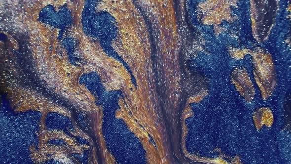 Fluid Art Glitter Paint Flow