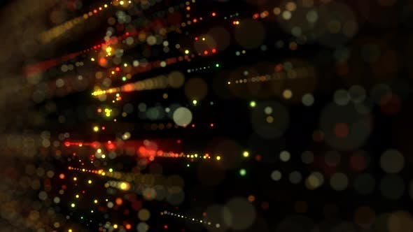 Thumbnail for Particles And Bokeh Wall Flowing Seamless Loop
