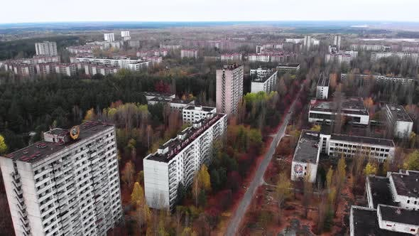 Chernobyl Exclusion Zone. Pripyat. Aerial. - product preview 0