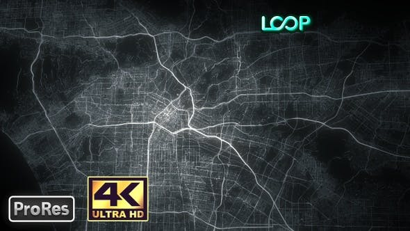 Thumbnail for Los Angeles - City Map - 4K