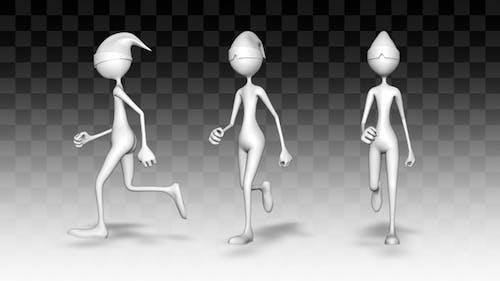 3d Character Man Run (3 Pack)