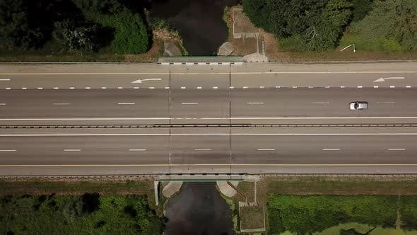 Thumbnail for Top Down Close Up of Highway Road