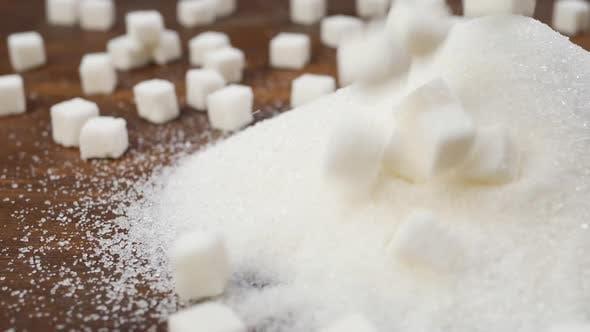 Sucre blanc granulé et sucre raffiné