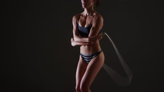 Thumbnail for Fit woman jumping rope