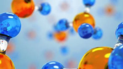 Science or Medical Background with Molecule and Atoms