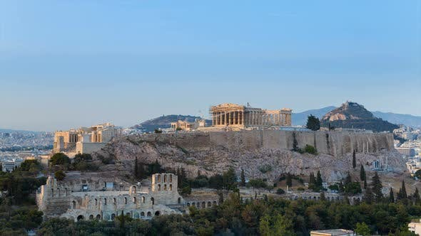 Cityscape with Acropolis