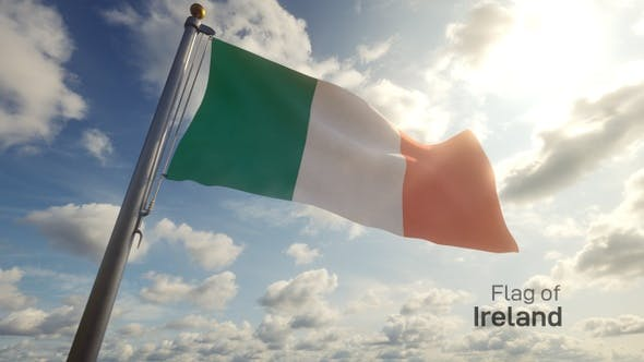 Thumbnail for Ireland Flag on a Flagpole