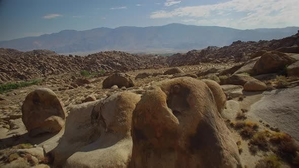 Thumbnail for Flying over rock formations of Alabama Hills California