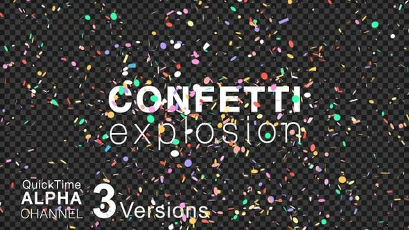 Thumbnail for Explosion Confetti With 3 Versions