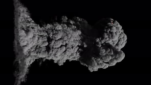 Volcanic Eruption Dense Smoke