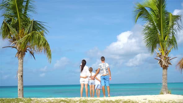 Thumbnail for Family on the Beach on Caribbean Vacation.