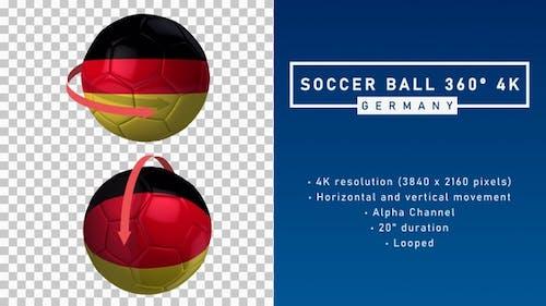 Soccer Ball 360º 4K - Germany