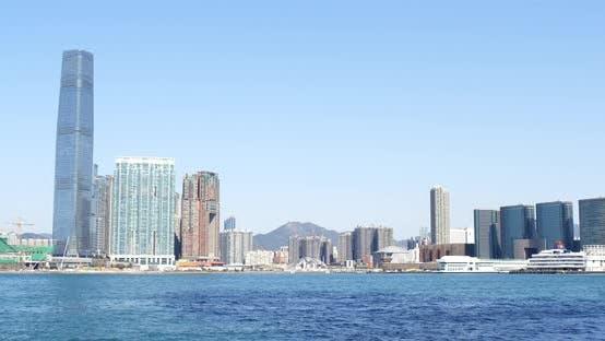 Thumbnail for Hong Kong skyline at sunny day