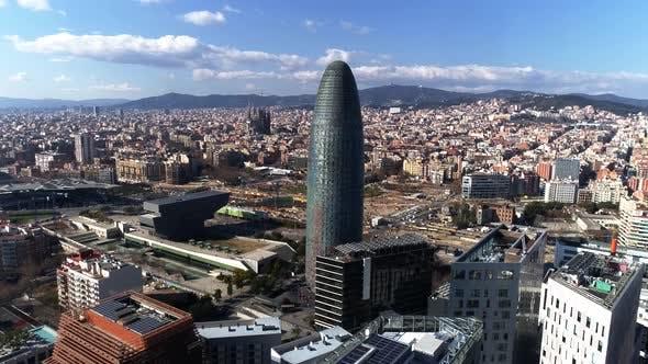 Thumbnail for Flying Over City of Barcelona, Spain