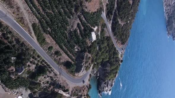 Sea Near the Coast  Aerial View of the Coastal Seascape