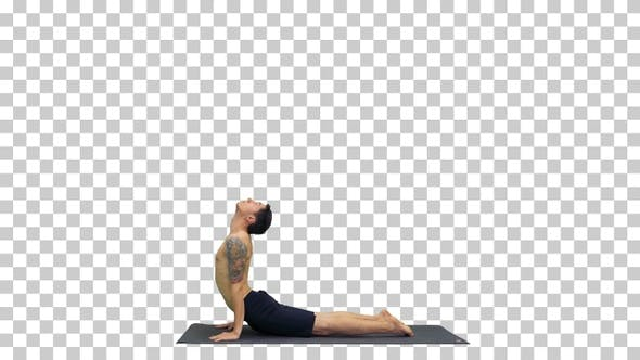 Thumbnail for Man is making yoga poses, Alpha Channel