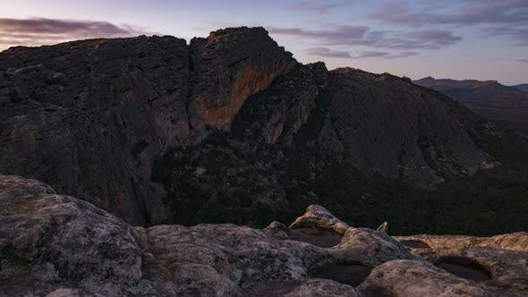 4K Timelapse from the Summit of Hollow Mountain in Roses Gap, Grampians NP, Victoria, Australia