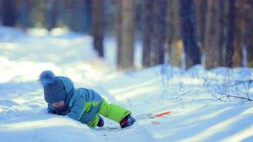 Kid Fell Into a Snowdrift