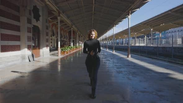 Female photographer looks like model