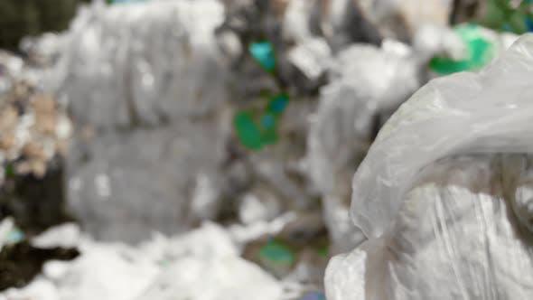 Plastic garbage in the rubbish dump