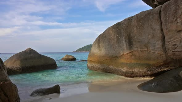 Thumbnail for Beach Between Rocks on Similan Islands in Dusk