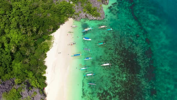 Thumbnail for Boats and Tourists on the Beach