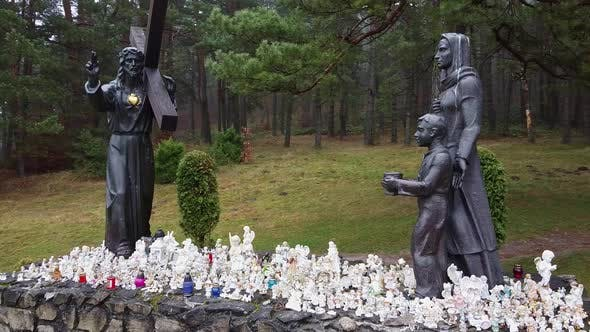 Thumbnail for Jesus Christ Statue in Forest