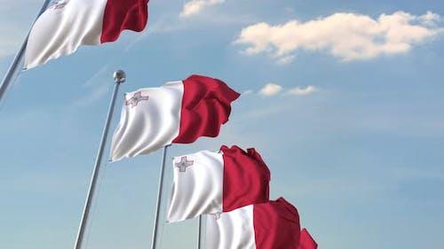 Flying Flags of Malta