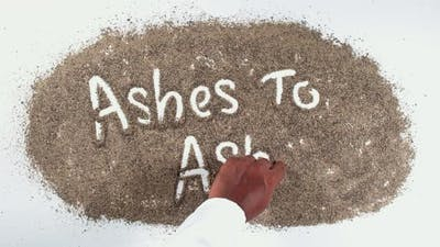 Pepper Hand Writing Ashes To Ashes
