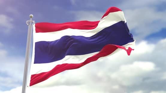 Thumbnail for Realistic Thailand Flag Slow Motion 4K