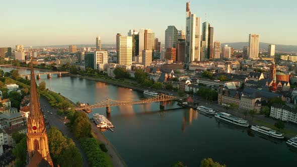 Thumbnail for Frankfurt Am Main, Cityscape Image of Frankfurt Am Main During Sunset