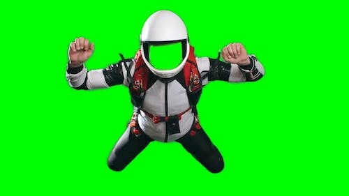 Skydiver in Free Fall No Face Template