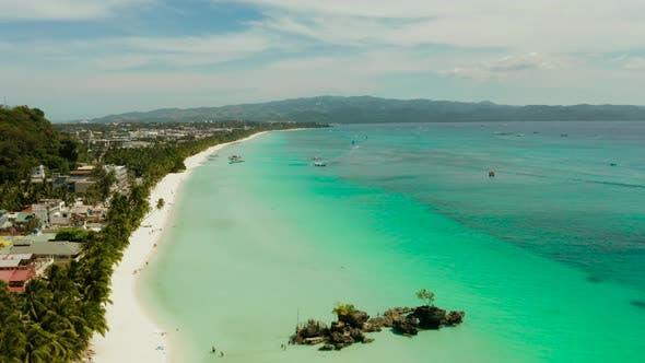 Thumbnail for Boracay Island with White Sandy Beach, Philippines