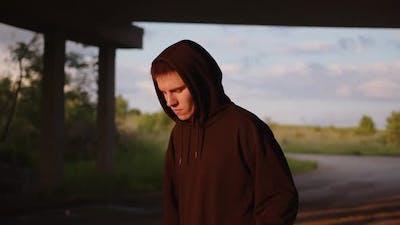 Man in Black Hoodie Training Workout
