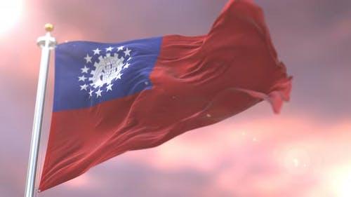 Flag of Myanmar or Union of Burma