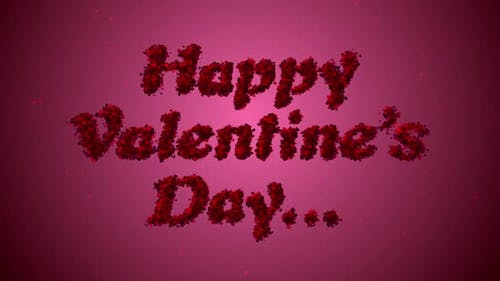 Happy Valentines Day Heart Particles