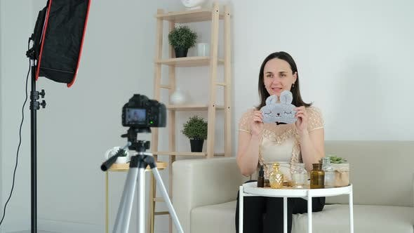 Young Woman Recording Content for Her Video Blog