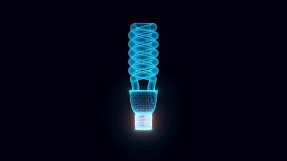 Energy Saving Light Hologram Rotating 4k