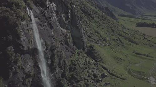 Landschaftlicher Wasserfall