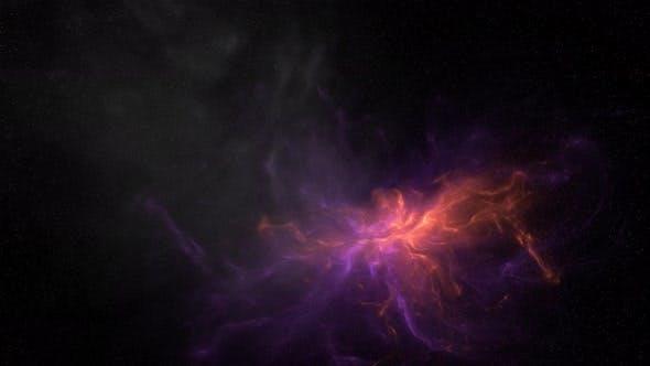 Stars Sky With Nebula